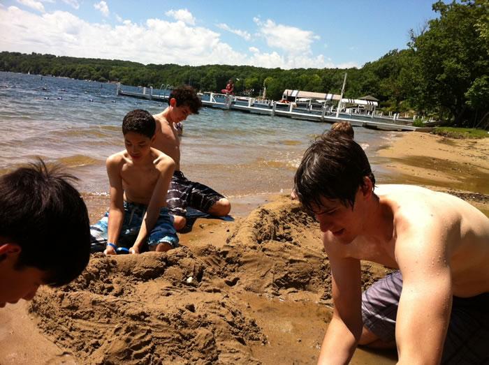 Enjoying the Sand